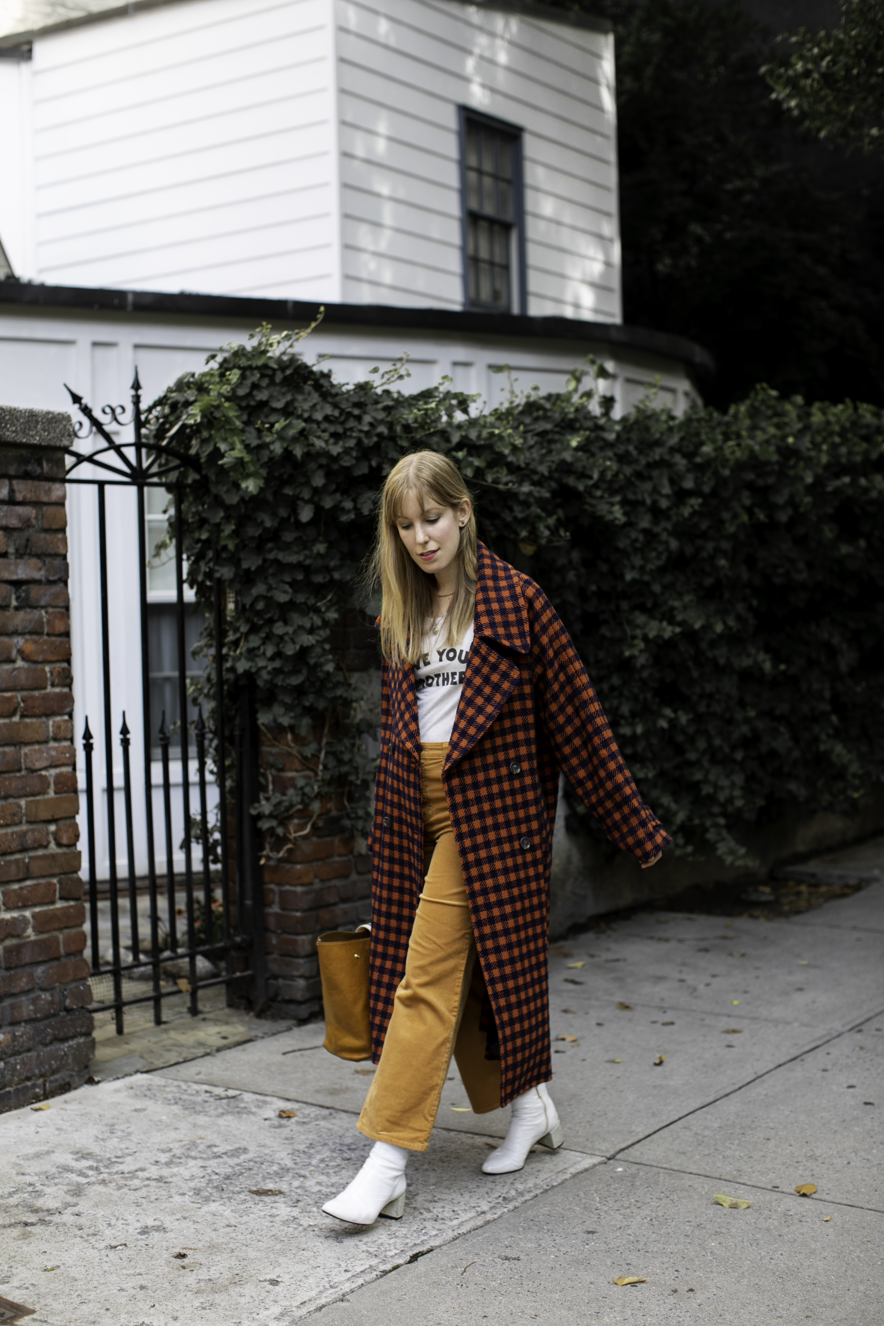 Fall Ethno Pop Checked Coat by Sea