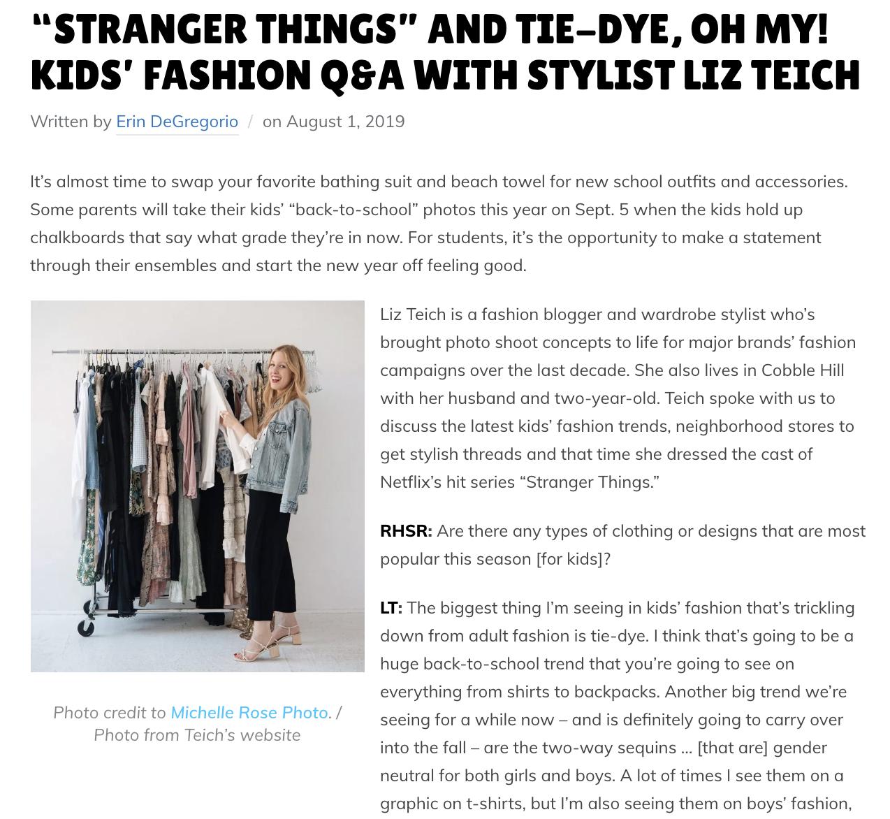 the new york stylist kids fashion